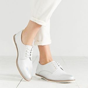 Anthro Miista Zoe Stingray Iridescent Oxford Shoes